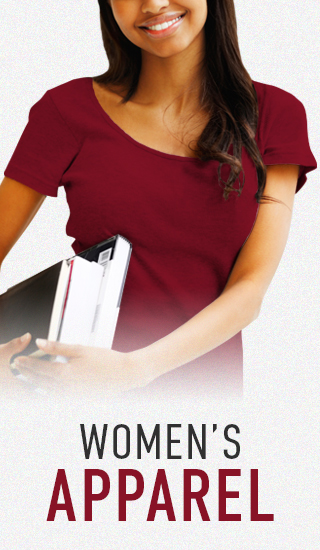 Picture of woman. Click to shop Women's Apparel.